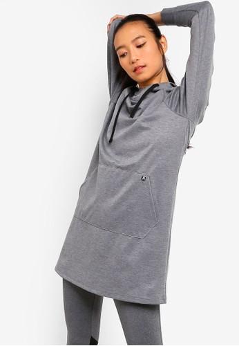 AVIVA grey Long Sleeve Top D844EAA693D8B7GS_1