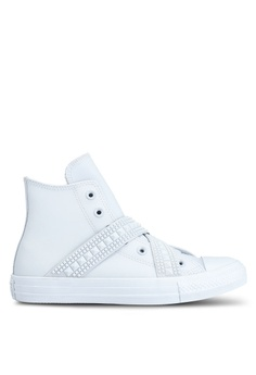 Converse white Chuck Taylor All Star Capsule  After Party Punk Strap Hi  Sneakers 75851SH72DD276GS 1 c3a89eb0d