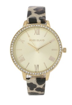 harga Leopard Printed Strap Watch Zalora.co.id