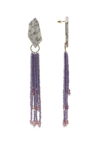 Mango white Stone Bead Earrings 768F5AC1DD2E74GS_1