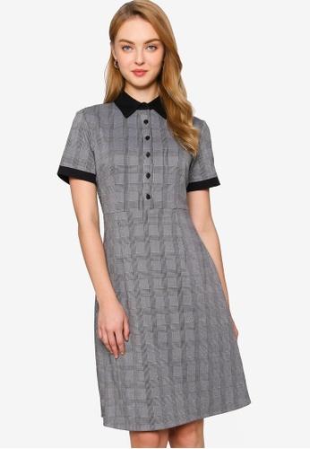 ZALORA WORK multi Contrast Collar Shirt Dress B1E87AAA0BBD77GS_1