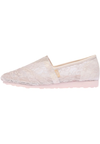 paperplanes Paperplanes-1327 Charming Floral Mesh Slip-Ons Sneakers Shoes US Women Size PA110SH10ZKRHK_1