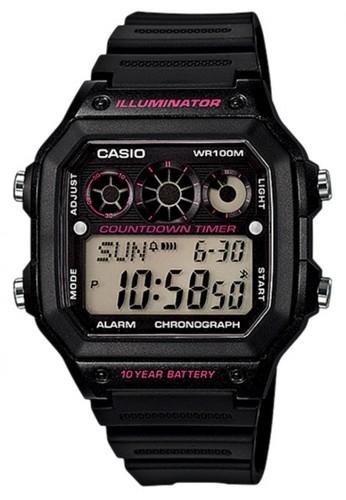 Casio black Casio Digital Jam Tangan Hitam Strap Karet AE-1300WH-1A2  Original CA347AC39AGIID 1 d3c48bb5cb