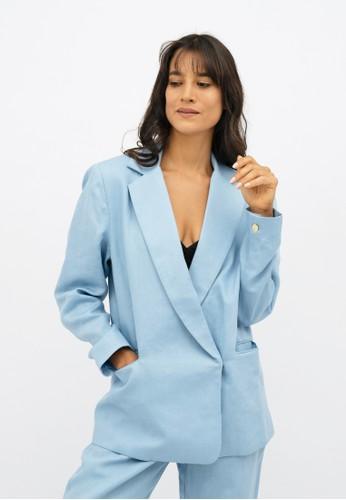 1 PEOPLE blue Havana HAV - Oversized Blazer - Sommerhus 23631AAEAF8AA1GS_1