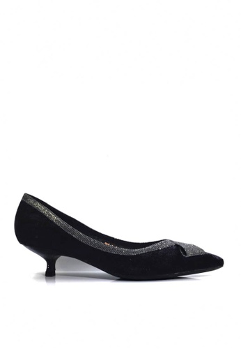 Twenty Eight Shoes 黑色 華麗蝴蝶結小幼跟鞋 VL2955 B8F38SH25F9A21GS_1