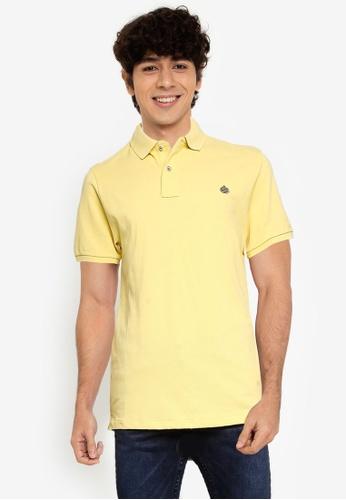 Springfield yellow Essential Slim Polo Shirt C49E6AAE343B24GS_1