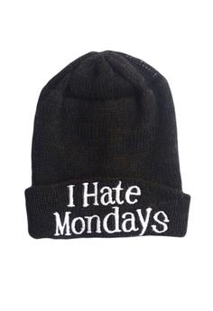 I Hate Mondays Statement Beanie
