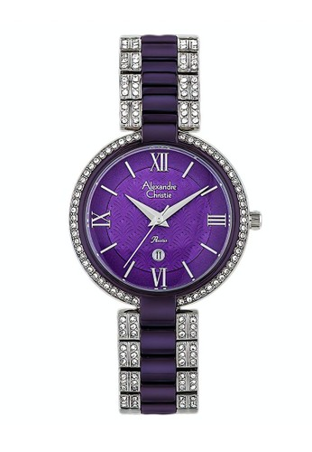 Alexandre Christie purple Alexandre Christie Jam Tangan Wanita - Purple Silver - Stainless Steel - 2739 LDBTLPU 0546EACC5E2481GS_1