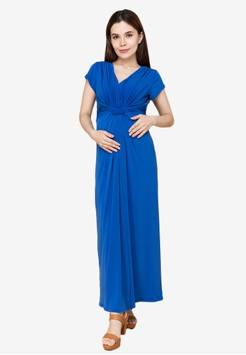 MOTHER 2 BE blue Pearl Maxi Maternity Dress 49348AAB1D4D76GS_1