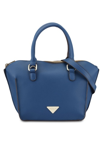 Perllini&Mel blue Faux Leather Top Handle Bag PE444AC0SBLVMY_1