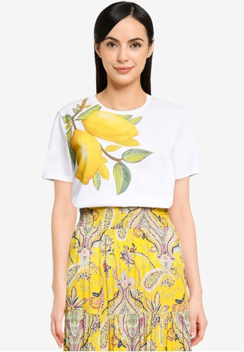 Desigual white Lemons 100% Cotton T-shirt B4AC2AA6541566GS_1