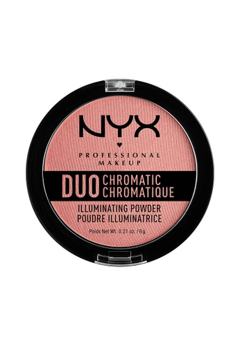 NYX Professional Makeup pink NYX Professional Makeup Duo Chromatic Illuminating Powder - CRUSHED BLOOM 9CCDCBE8994986GS_1