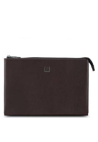 Playboy brown Playboy Genuine Leather Clutch Bag 060A7AC38EA444GS_1