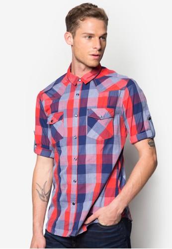Long Sleeve zalora時尚購物網評價Shirt, 服飾, 格紋襯衫