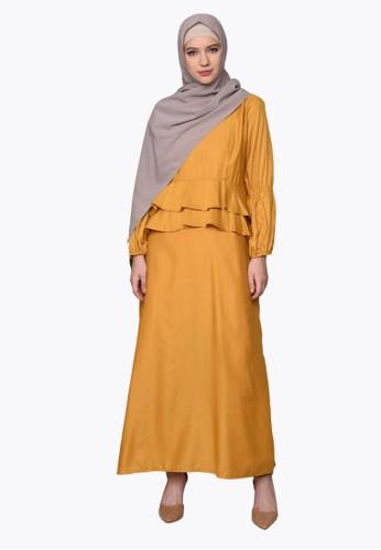 My Daily Hijab yellow Monita Dress E743DAA4720143GS_1
