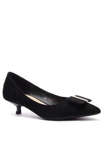 Twenty Eight Shoes 尖頭方扣絨面高踭鞋295-44 0FE0BSH27EB28EGS_1