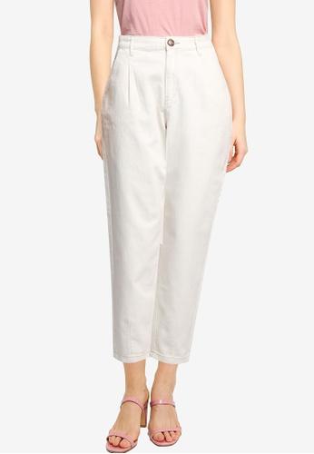 Springfield beige Baggy Cropped Trousers B6BDDAA8D33967GS_1