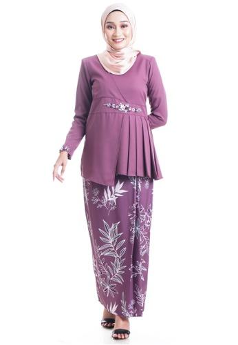 Ashura purple Etini Kurung Asymmetrical Peplum 96059AA490D3FAGS_1
