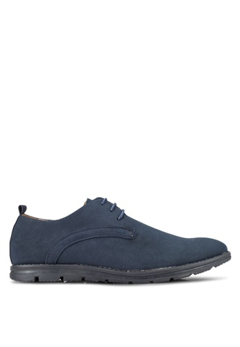UniqTee blue Round Toe Derby Shoes UN097SH0RFVDMY_1