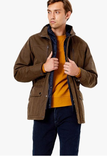 MARKS & SPENCER brown Double Collar Car Coat FB19AAA5D924A9GS_1