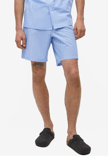 MANGO Man blue Pyjama Shorts F8F50AA0ACB0CAGS_1