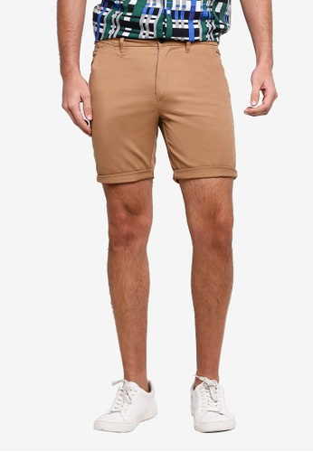 River Island 褐色 緊身休閒短褲 BDB6AAA866A8C4GS_1