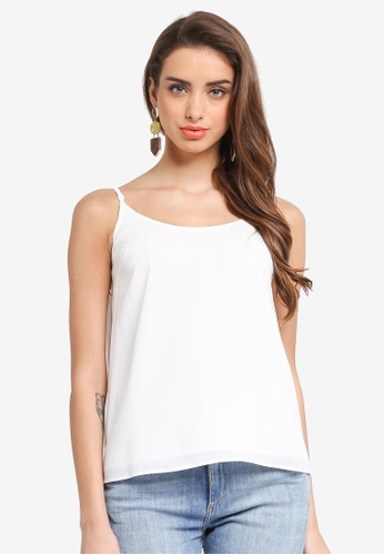 Dorothy Perkins white Ivory Strappy Cami 1D06BAA010AEF1GS_1