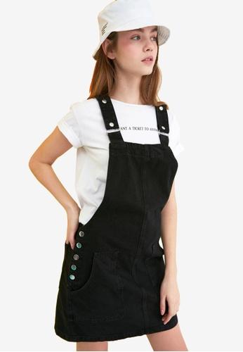 Trendyol black Basic Pinafore Denim Dress AEA4AAAB0F2EFFGS_1