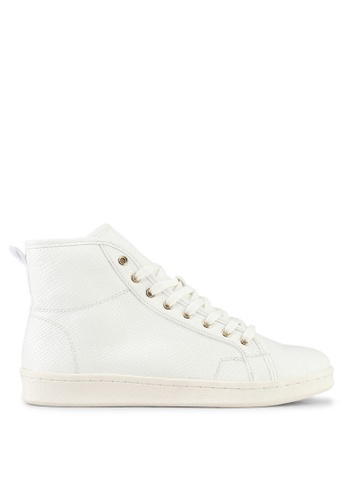 Miss Selfridge white Extended Texture High Top Trainers 85481SH5B72BECGS_1
