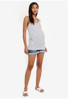 a5b595e40d0 10% OFF JoJo Maman Bébé Maternity Denim Shorts HK  479.00 NOW HK  430.90  Sizes 8 10 12 14. Mama.licious navy Maternity Tine Blackie Jersey Dress ...