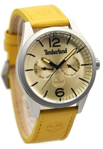 Timberland 15018JS-07 Jam Tangan Pria Leather Strap Coklat Ring Silver