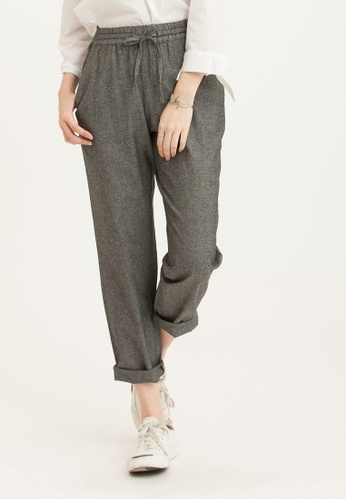 H:CONNECT grey Women's Woven Pants D84B4AA8503786GS_1