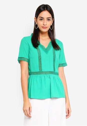 Vero Moda green Filippa Top AEC76AA317BAEDGS_1
