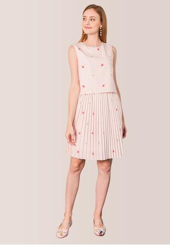 L'zzie pink PRINCESS AURORA HOUNDSTOOTH DRESS - PINK 6177BAA14C9027GS_1