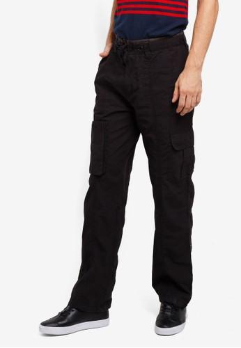 Brave Soul black Cotton Trousers E2E19AA94D10E8GS_1