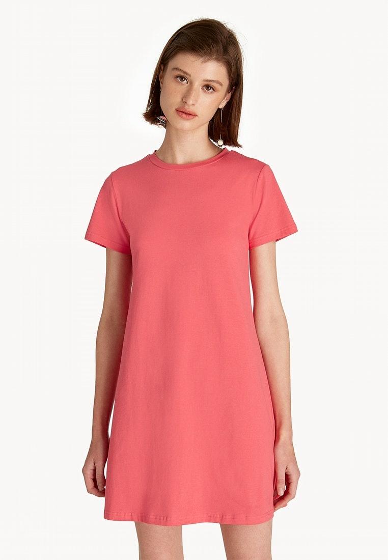 f8f6a17c6551 Dress Pomelo Crew Neck A Pink Line Pink Mini IRAwqCx-klausecares.com