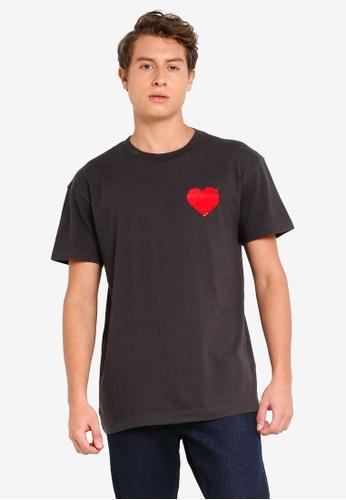 Abercrombie & Fitch black Pride Flip Sequin T-Shirt 12D04AA87B584AGS_1