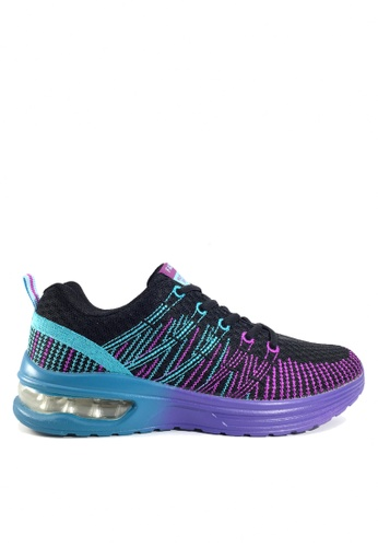 Twenty Eight Shoes 黑色 刺繡網布氣墊跑步鞋 VT861 9B75ASH742E451GS_1