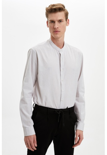 DeFacto brown Long Sleeve Cotton Shirt 71F45AA901A3FDGS_1
