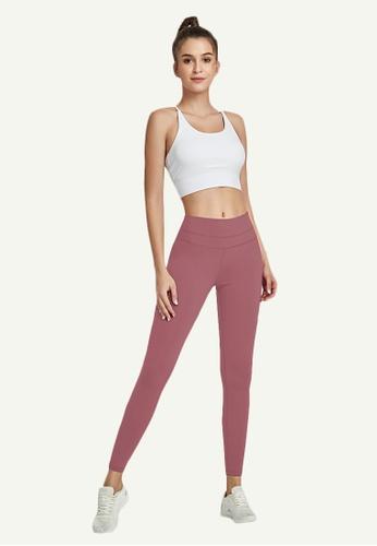 B-Code purple ZWG7002Lady Quick Drying Running Fitness Yoga Sports Leggings -Purple 88A95AA2560A31GS_1