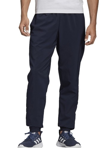 ADIDAS blue essentials linear tapered stanford pants 97240AA7C8E8CAGS_1