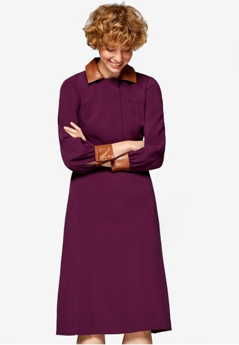 ESPRIT purple Woven Midi Dress A5F69AA18659E3GS_1