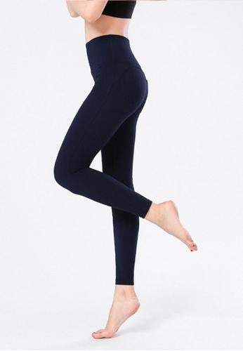 B-Code navy ZYG3066-Lady Quick Drying Running Fitness Yoga Sports Leggings -Navy B50C1AA63C7562GS_1