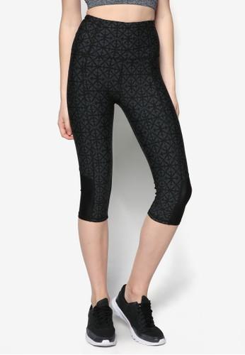 Bliss zalora時尚購物網的koumi koumi彈性印花運動長褲, 服飾, 緊身褲