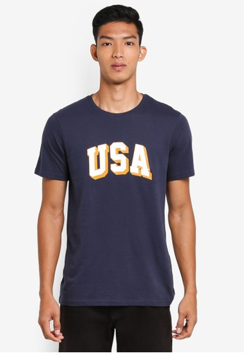 Cotton On navy TBar Tee AE40CAA80A9107GS_1