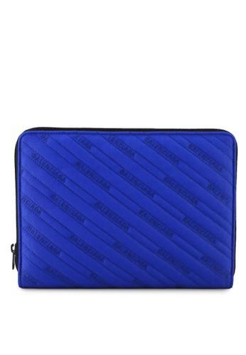 Balenciaga blue Explorer Clutch  (zt) 5EA06AC95C0E99GS_1