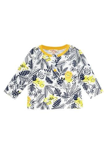 Du Pareil Au Même (DPAM) white Tropical Print T-Shirt 1F590KA912FCF0GS_1