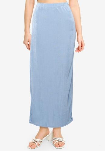 Cotton On blue Bowie Slinky Knit Maxi Tube Skirt 52EEBAA052407EGS_1