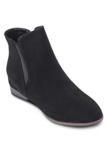 麂皮低跟短靴, 女鞋,zalora時尚購物網的koumi koumi 鞋