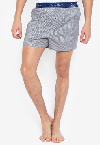 Calvin Klein grey Slim Fit Woven Boxers DCCCEUS94BA95FGS_1